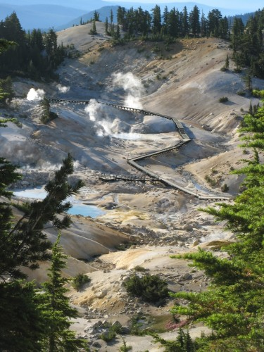 bumpass hell from above