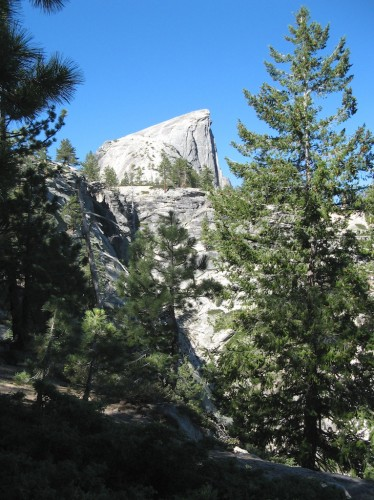 half dome at distance