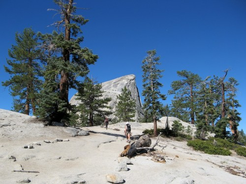 half dome granite trail