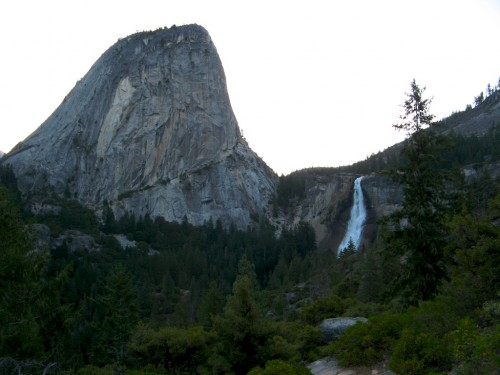 nevada falls and liberty cap