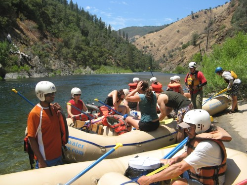 tuolumne lunch break rafts