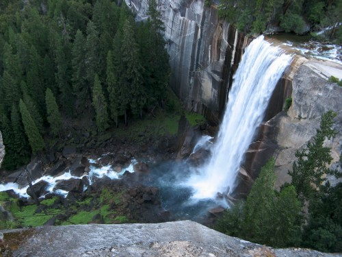vernal falls in morning light